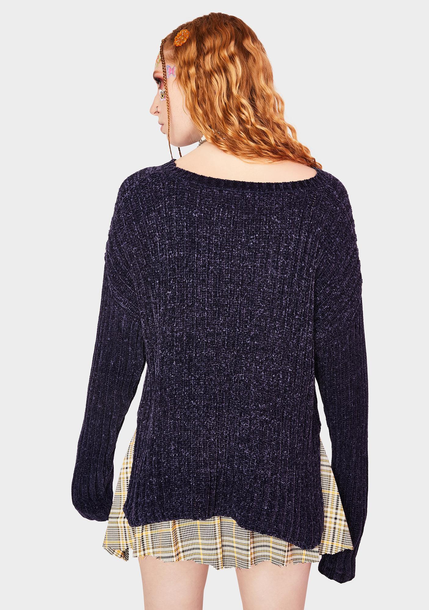 SWNY Ribbed Chenille Pullover