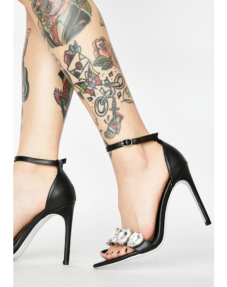 Onyx Walk It Off Peep Toe Heels