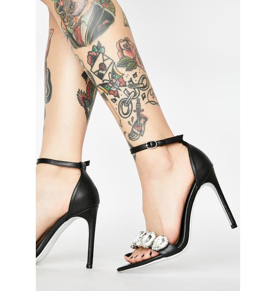 Onyx Walk It Off Peep Toe Heels