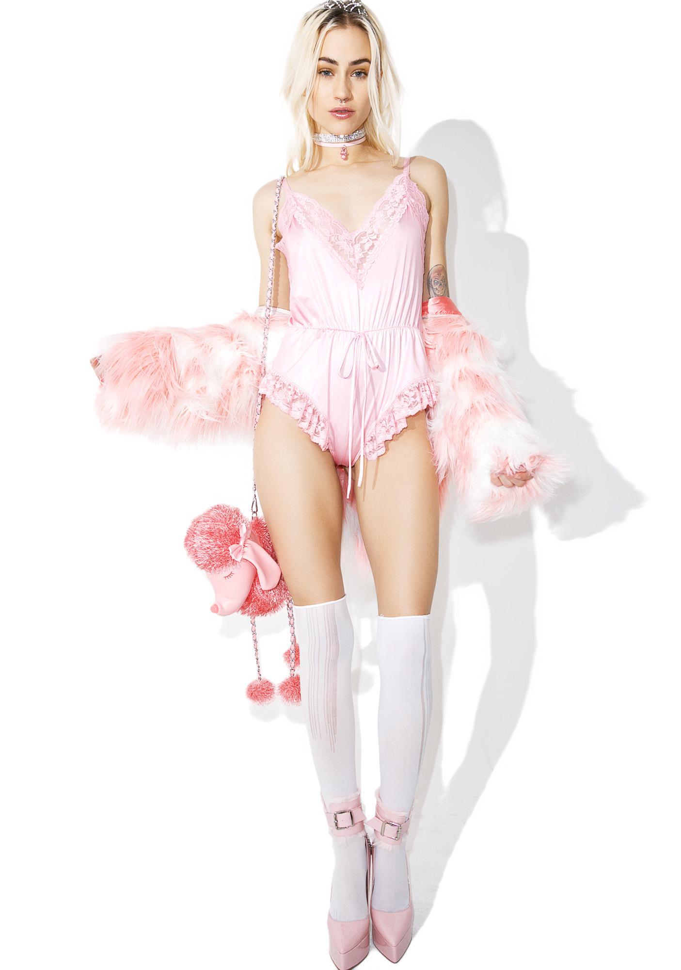 Sugar Thrillz Sweet Cream Lace Romper