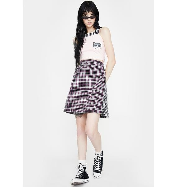 Jawbreaker Contrast Check Buckled Mini Kilt