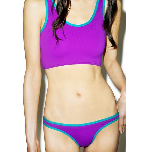 Mandalynn Swim Purple Sport Swim Bottom