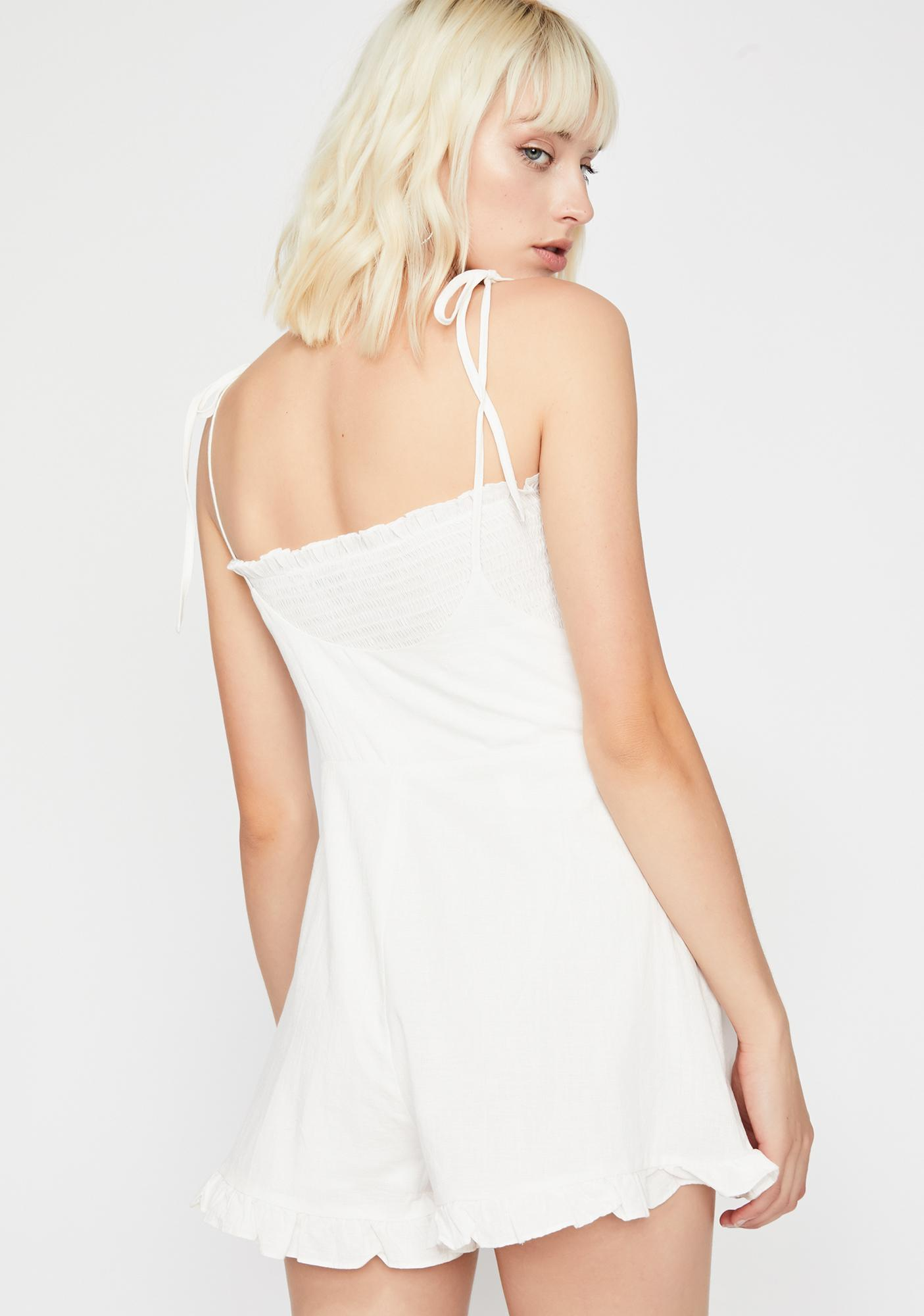 Fresh Breeze Tie Shoulder Romper