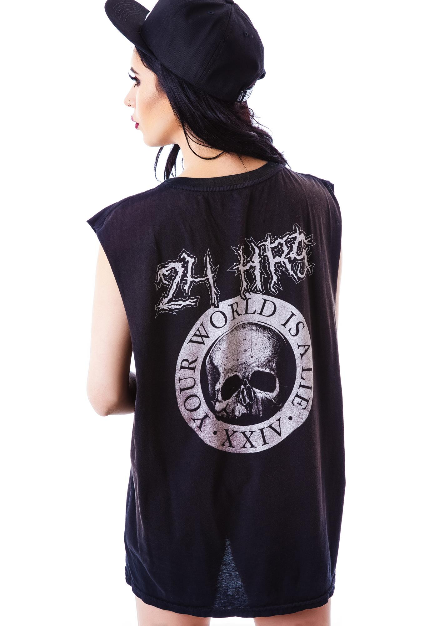 24HRS Your World is a Lie Sleeveless Tee