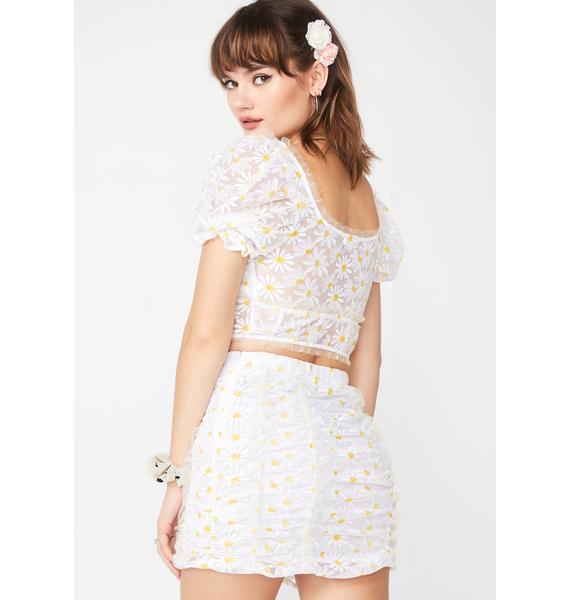 For Love & Lemons Brulee Daisy Mini Skirt