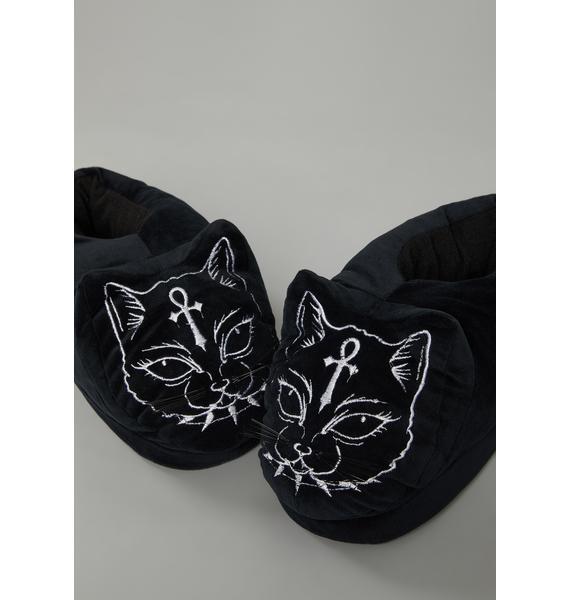 Dolls Kill Fluff Off Cat Slippers