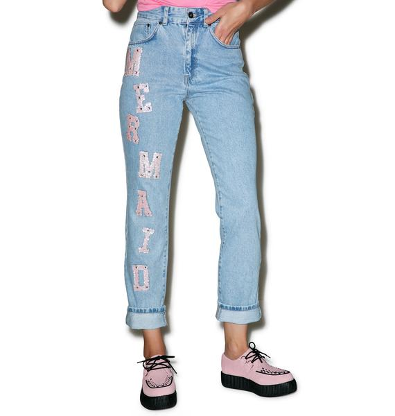 The Ragged Priest Mermaid Mom Jeans