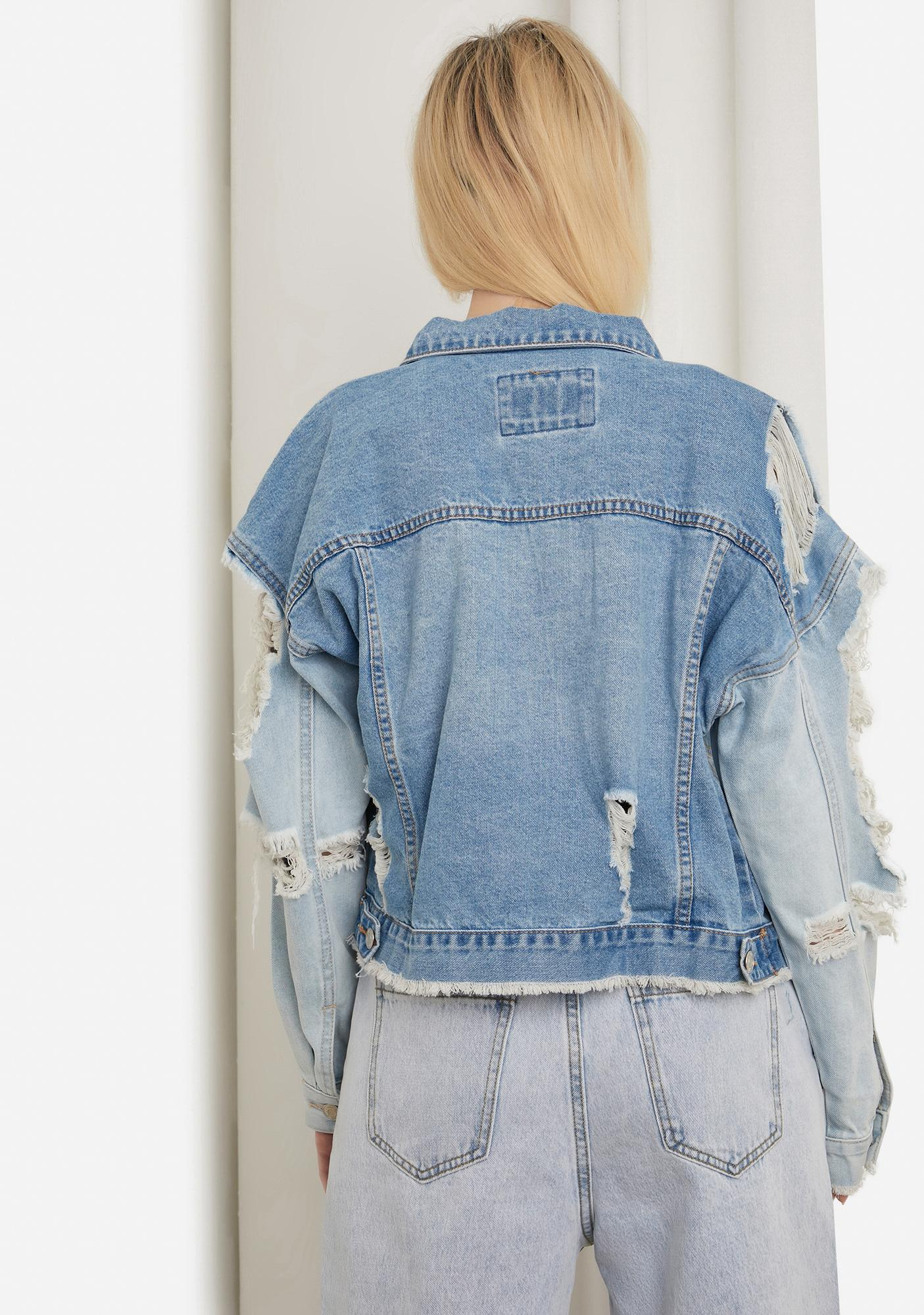 Bad Enough Distressed Denim Jacket