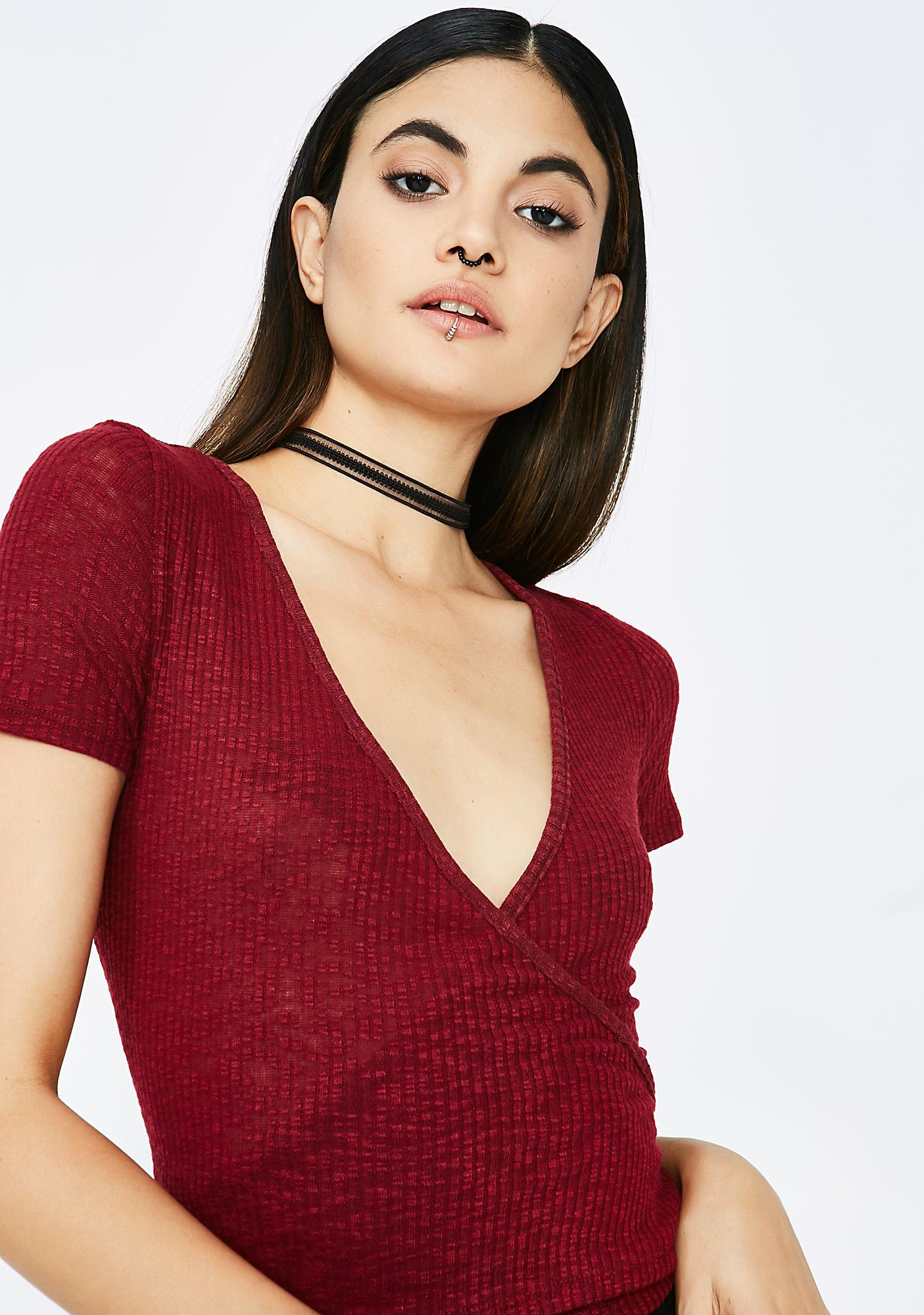 Mad Love Wrap Top