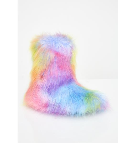 Current Mood Kawaii Kreature Fluffy Slippers
