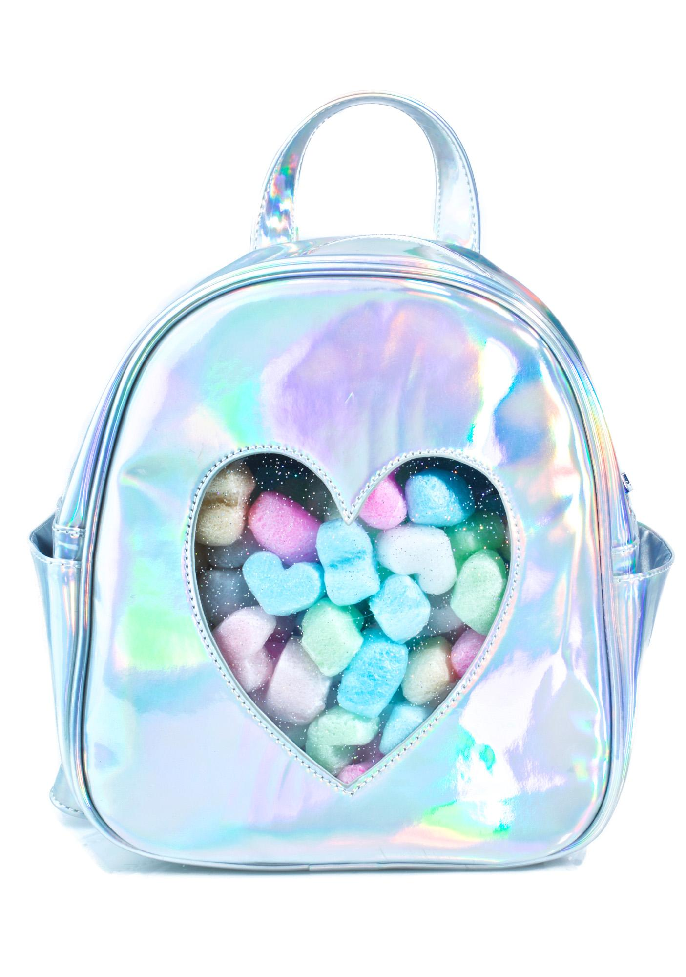 b6c46965848d Sugar Thrillz Clear Front Heart Backpack