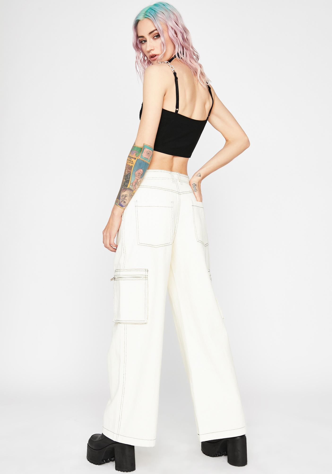 Current Mood Bone Hard Knox Contrast Stitch Jeans