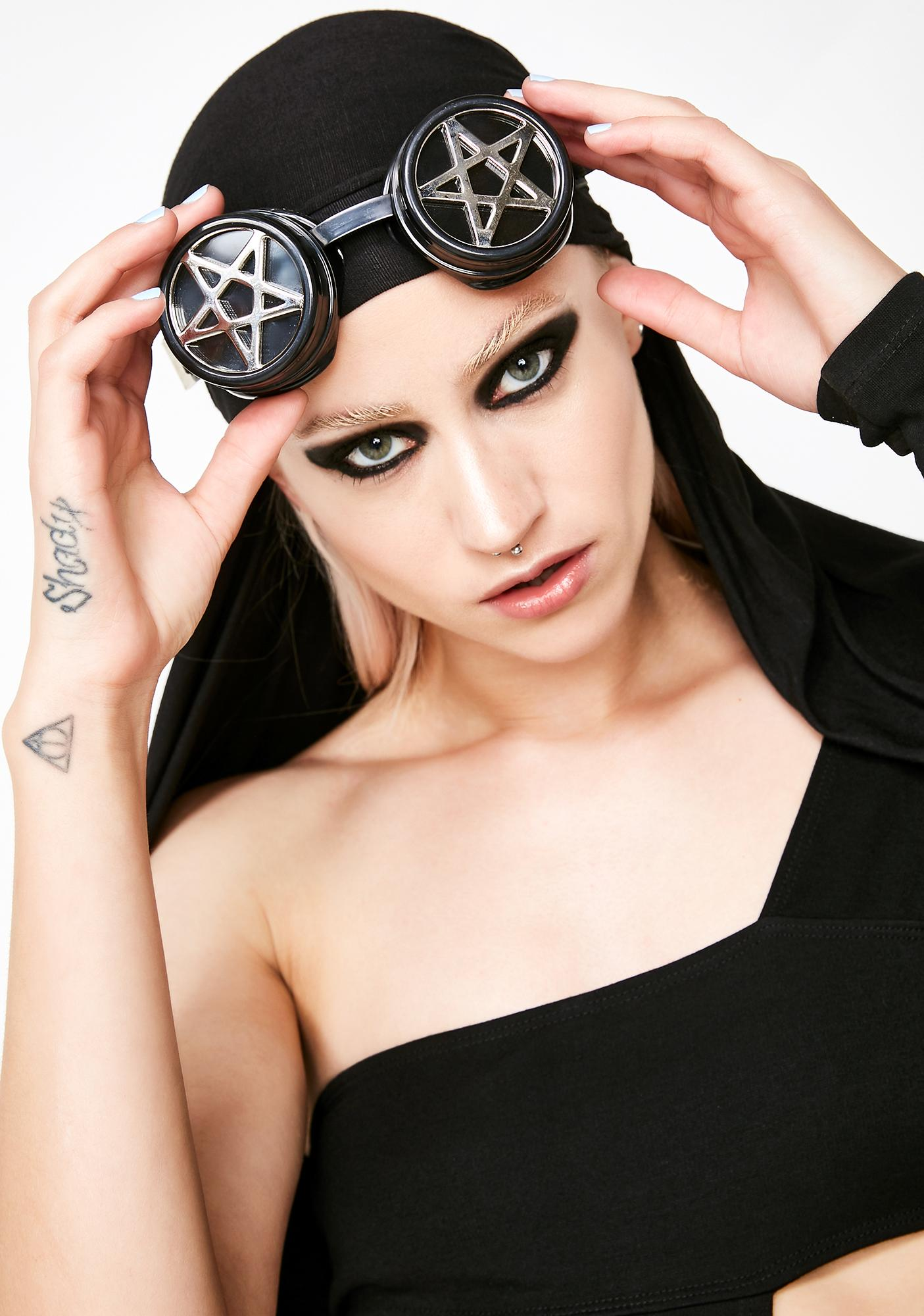 Witchy Woman Pentagram Goggles