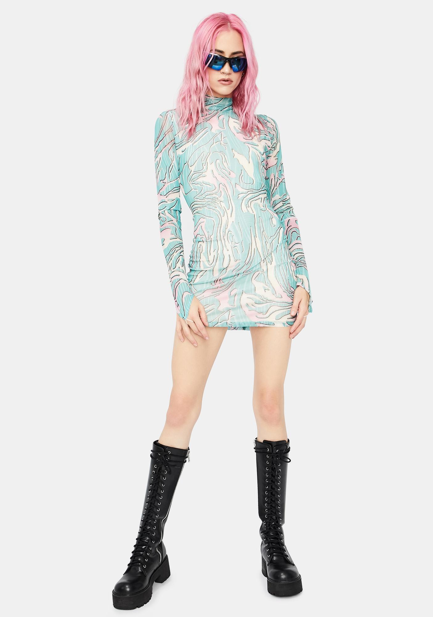 Let Me Live Mesh Mini Dress