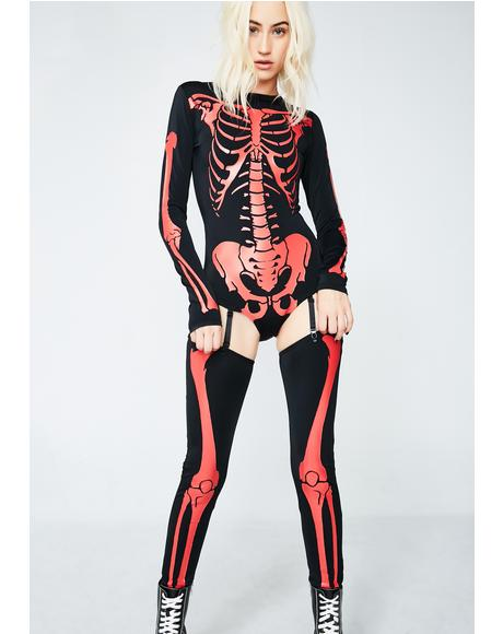 Fiery Frame Skeleton Costume
