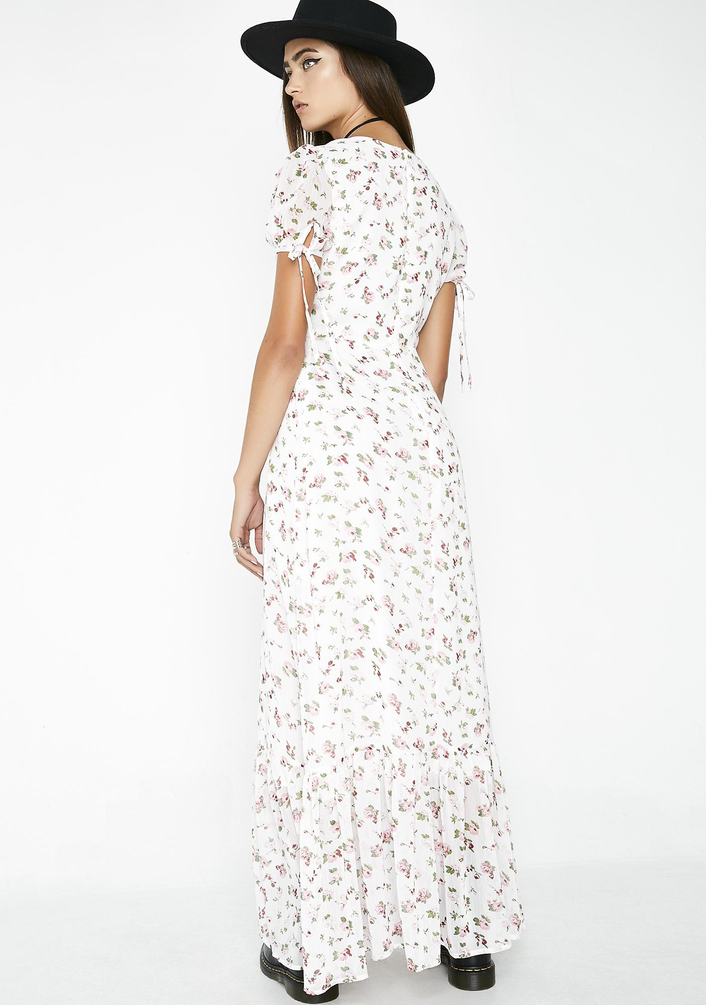 Lady Of The Canyon Floral Dress