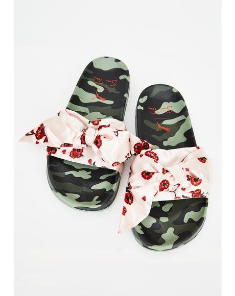 X Sue Tsai Leadcat Cherry Bomb Slides