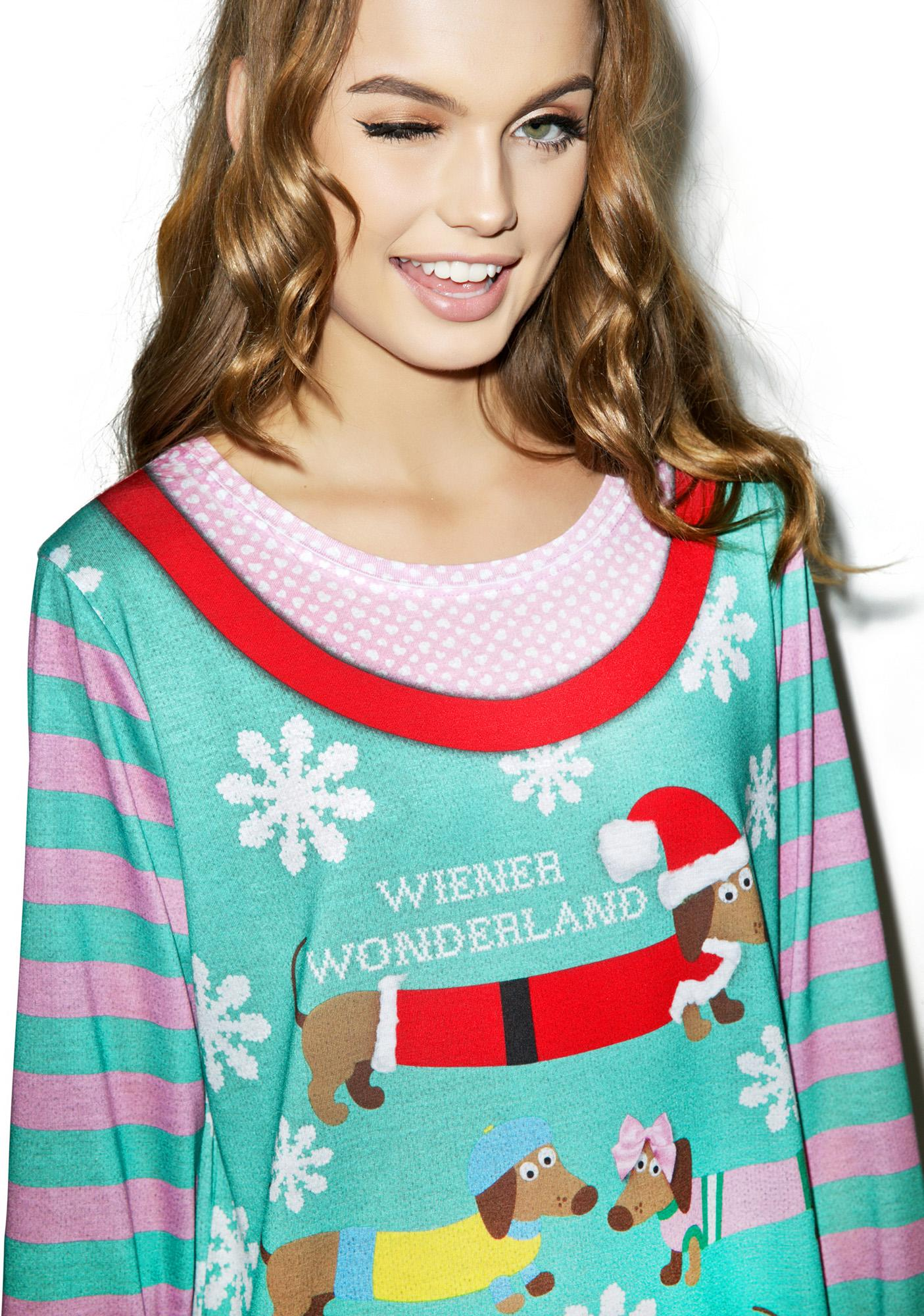 Wiener Wonderland Sweater Tee