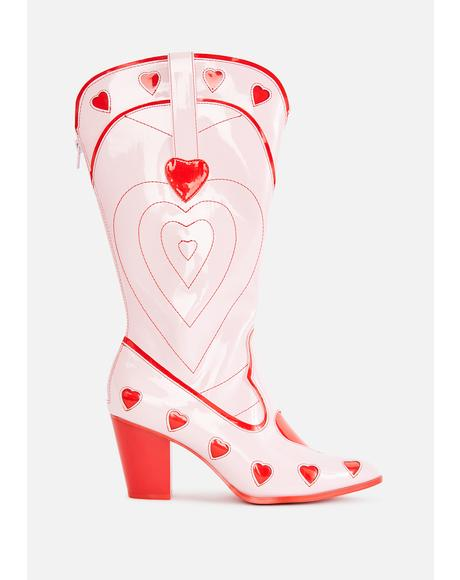 Red Heart Space Cowgirl Boots