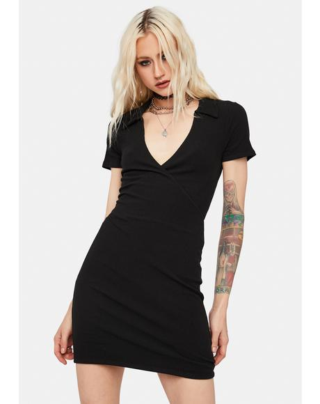 Play The Radio Collared Mini Dress