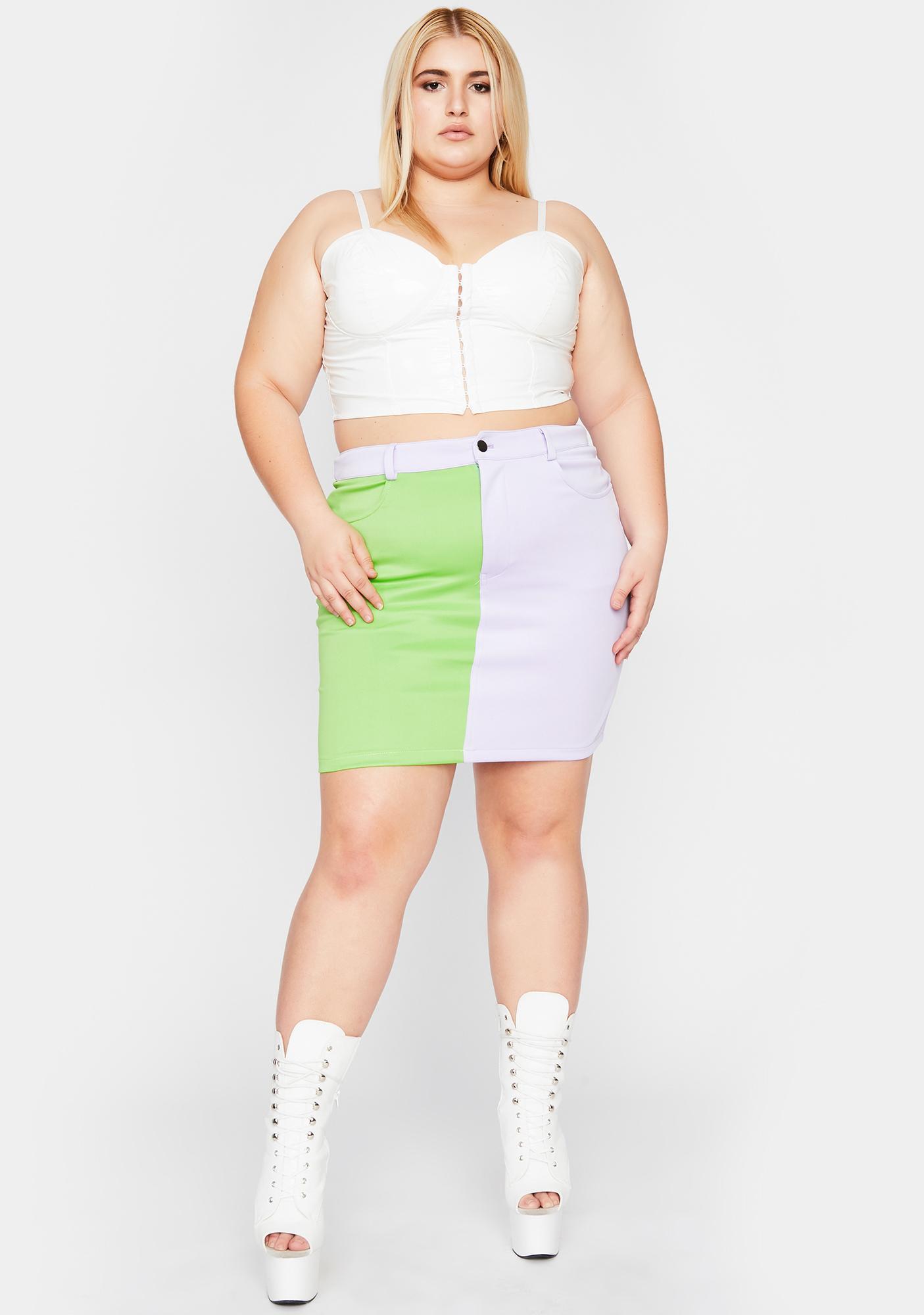 Gotta Breakup To Makeup Colorblock Skirt