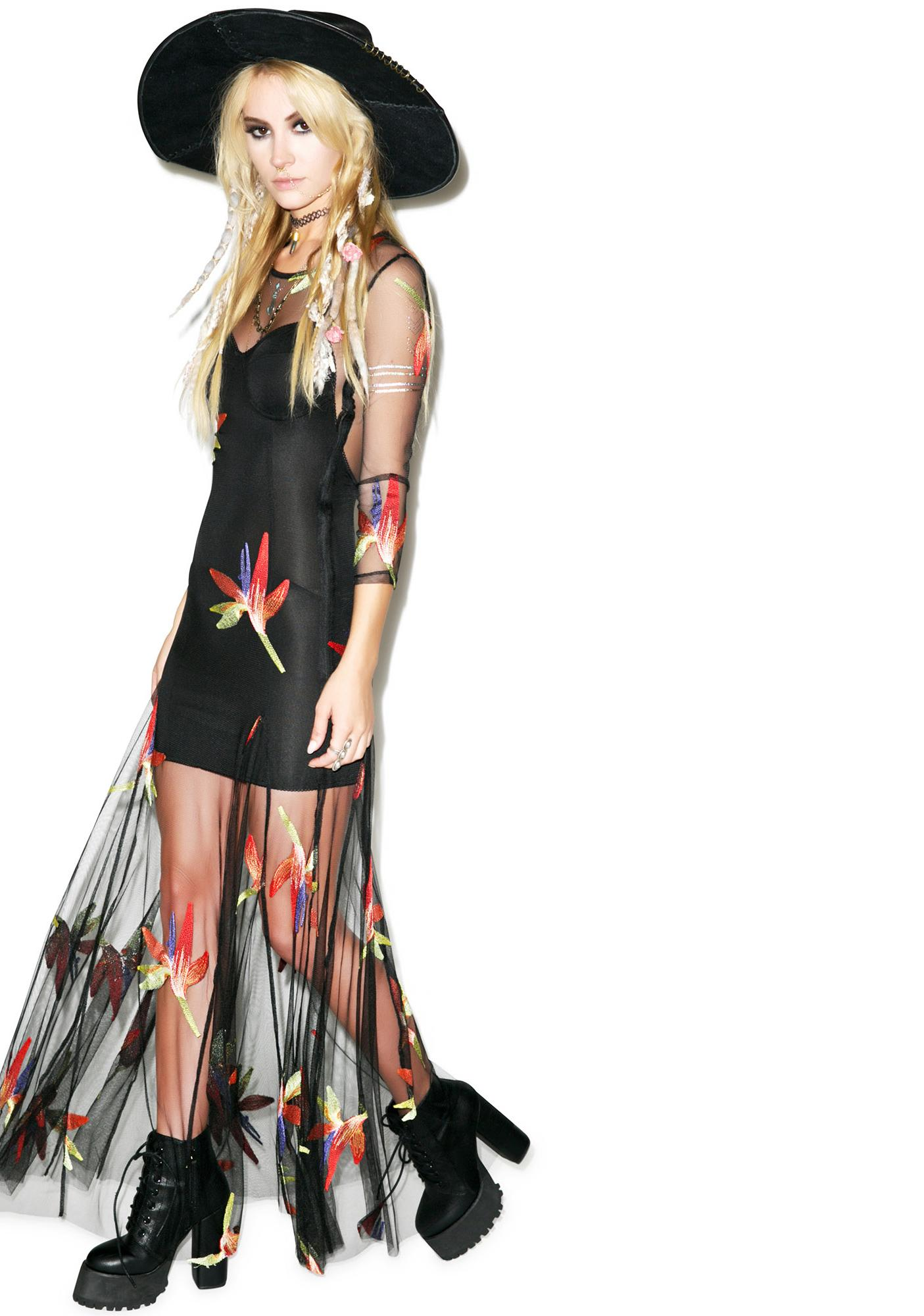For Love & Lemons Birds Of Paradise Maxi Dress