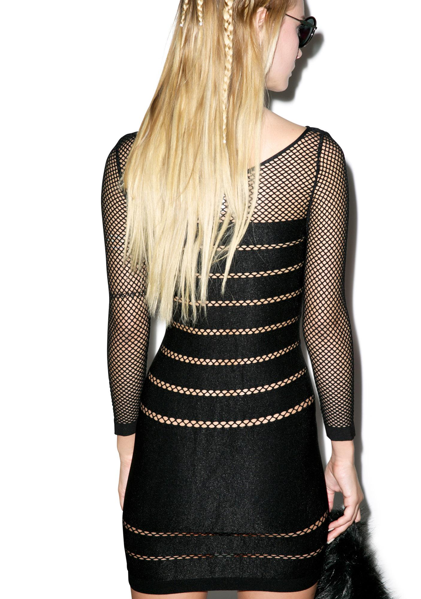 Vantablack Mistress Bodycon Dress
