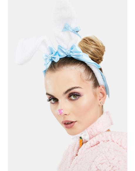 Powder Fuzzy Wuzzy Bunny Ear Headband