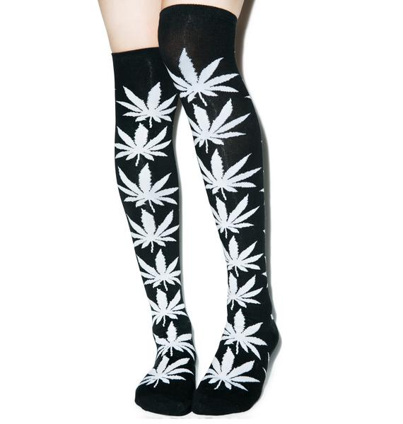 HUF Plantlife Thigh High Socks