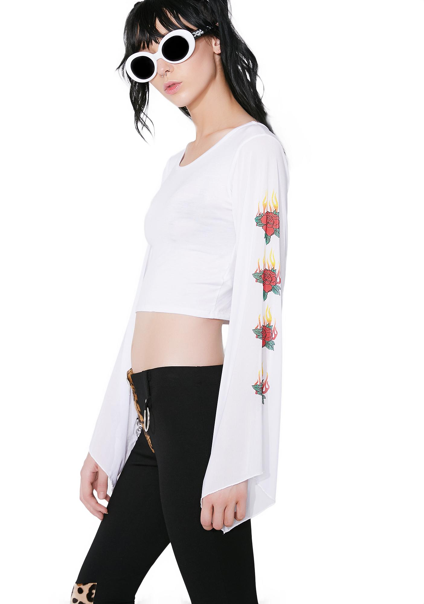 Light My Fire Rose Crop Top