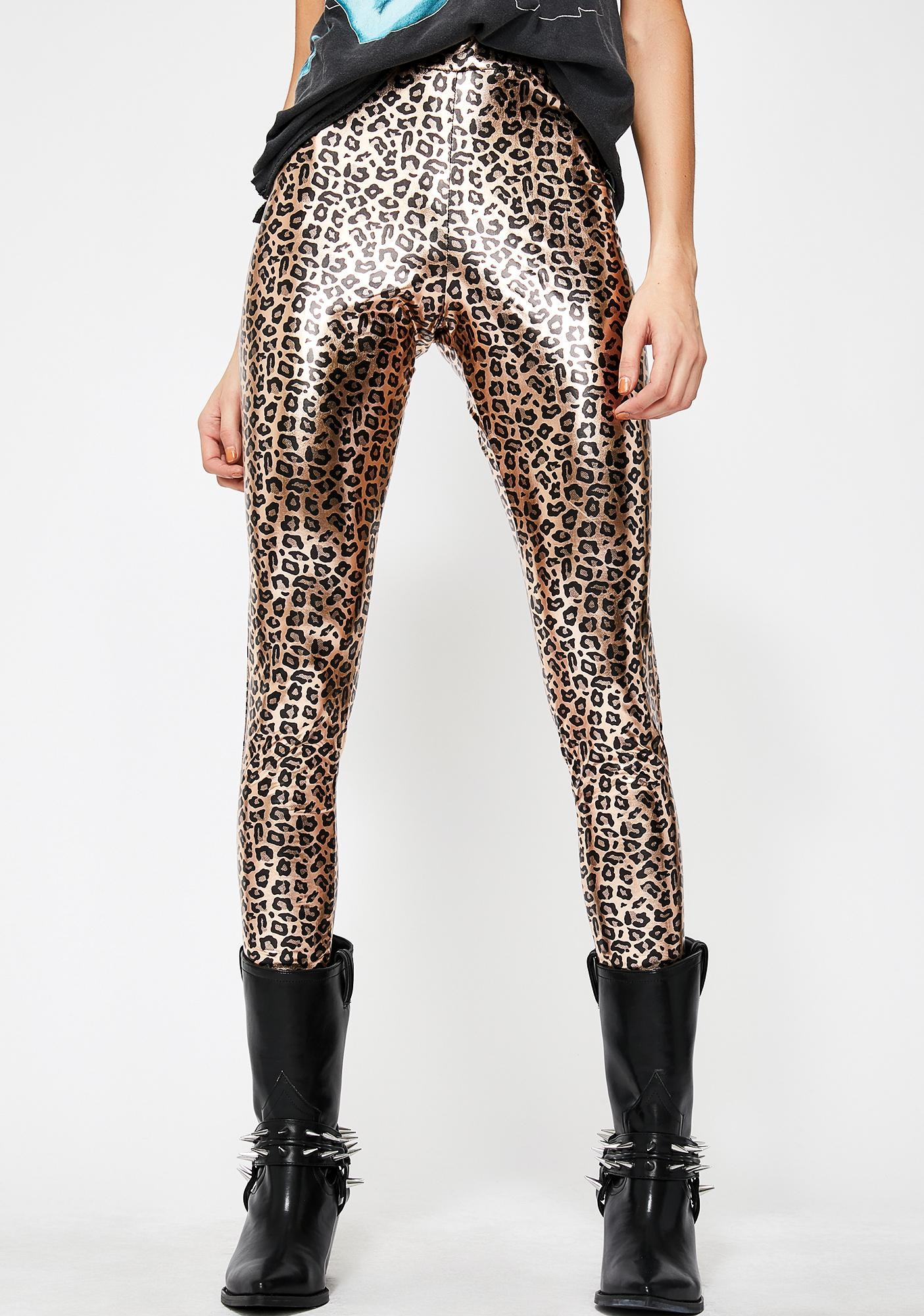 Jungle Beats Metallic Leggings