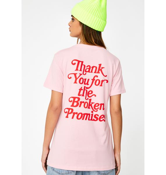 BROKEN PROMISES CO Thank You Graphic Tee
