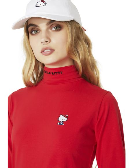 Hello Kitty Polo Neck Top