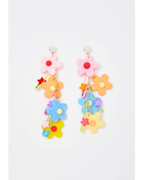 Confetti Burst Daisy Earrings