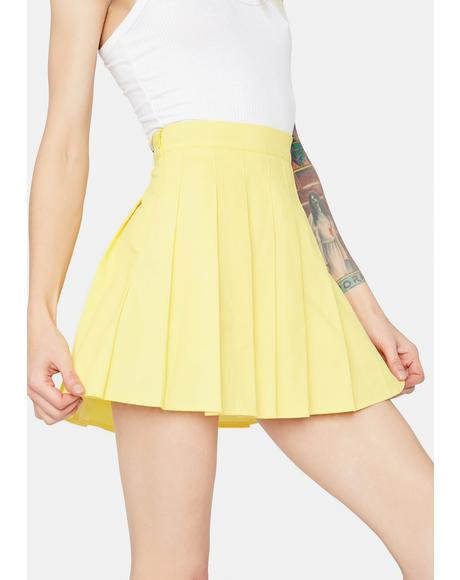 Lemon Just Like Candy Pleated Skirt