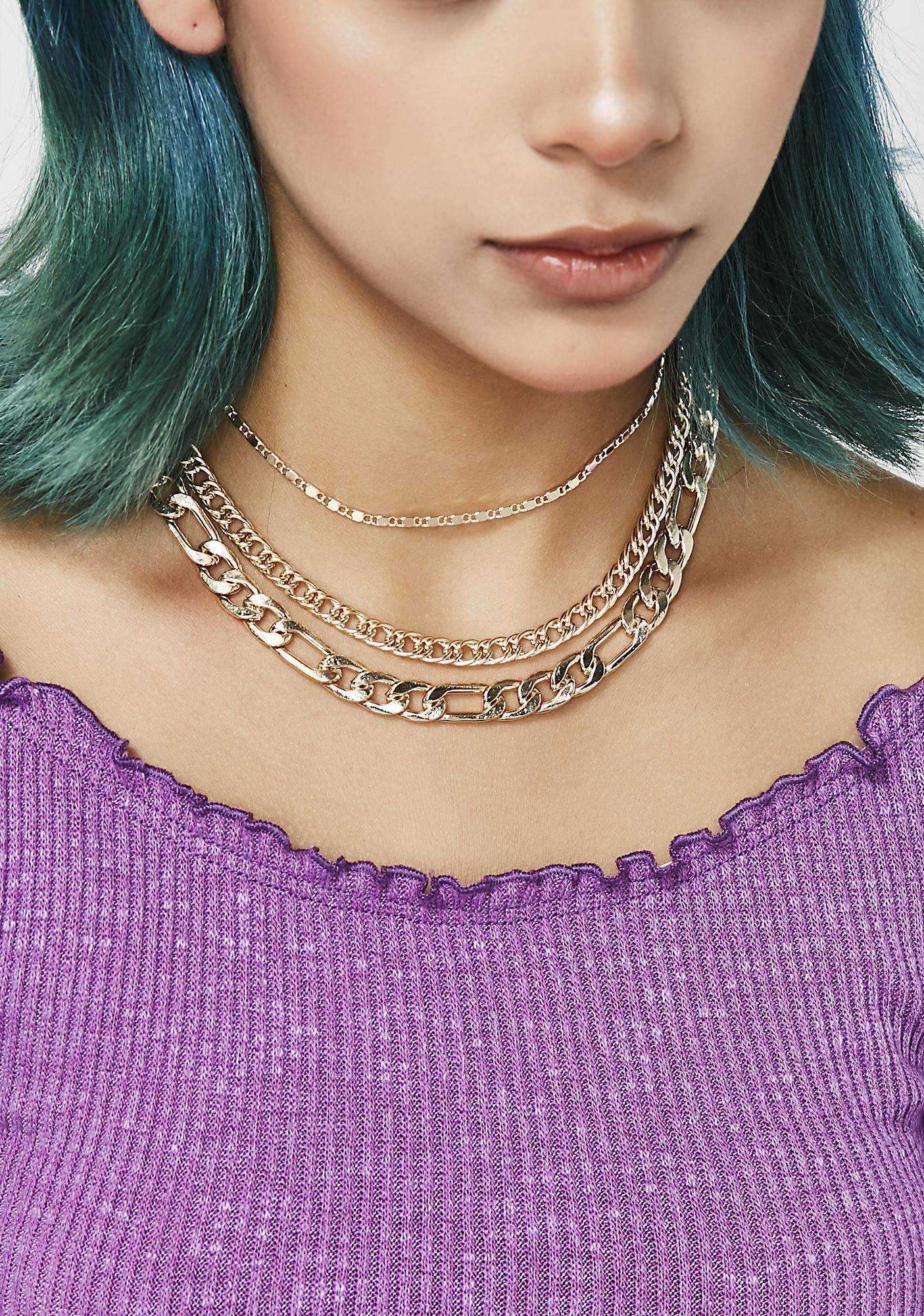 Keep Me Chained Layered Necklace