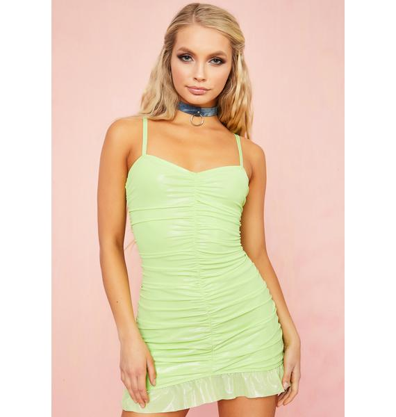 Sugar Thrillz Martini Sour Ruched Mini Dress