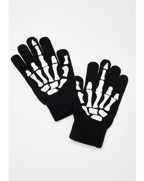 Up Yours Skeleton Hand Gloves