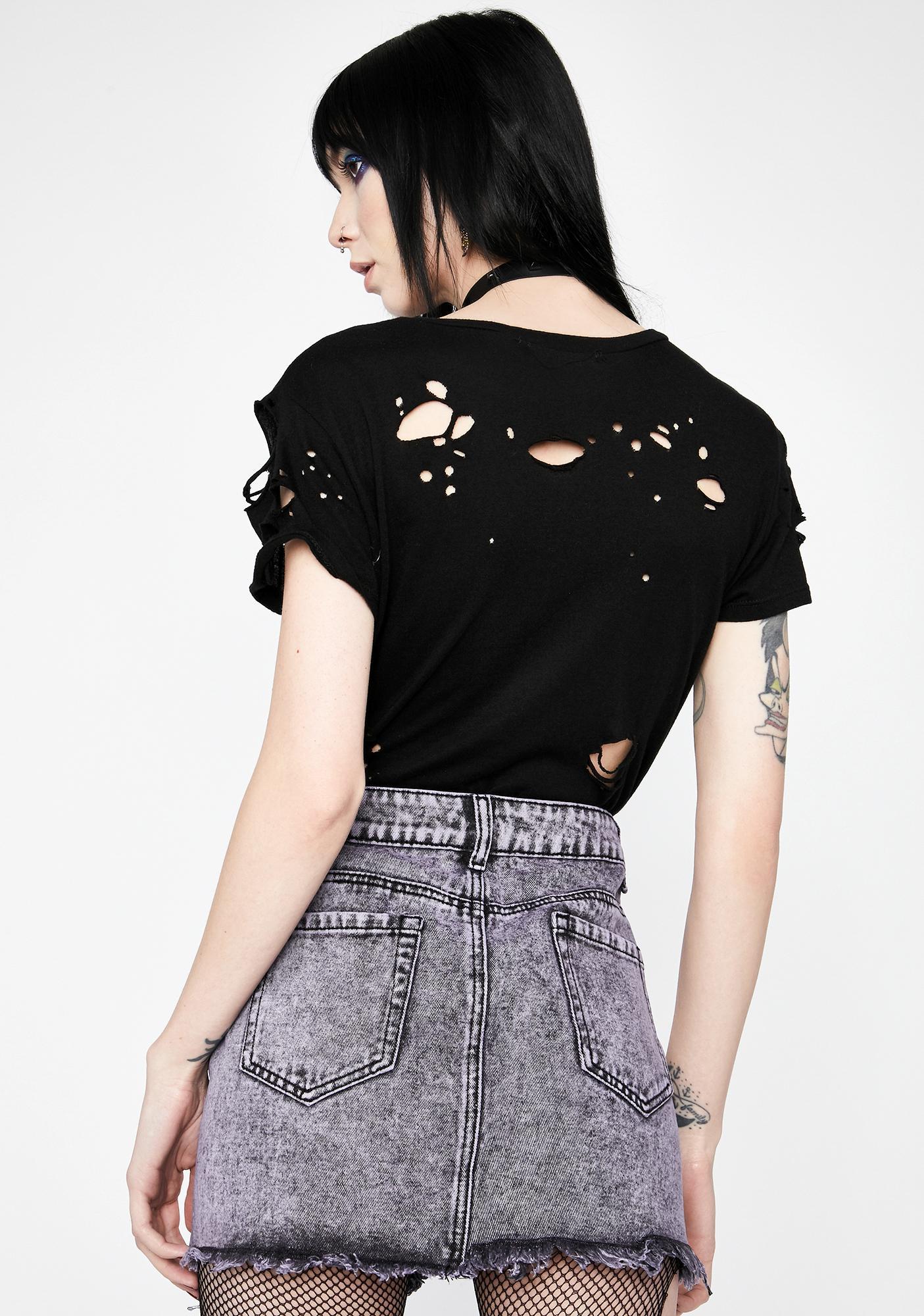 HOROSCOPEZ Into The Unknown Denim Skirt
