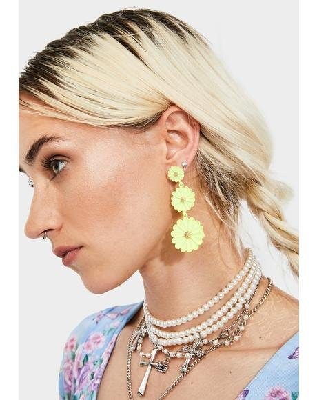 Flower Fields Drop Earrings