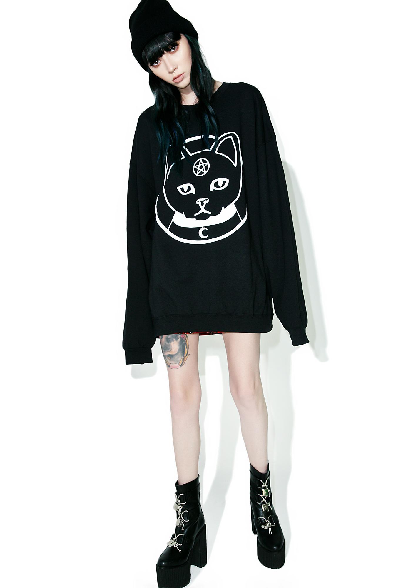 Witch Worldwide Witch Kitty Oversized Sweatshirt