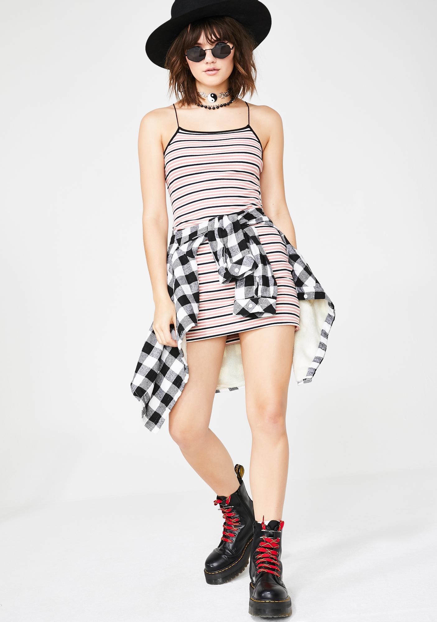 Glamorous Chill Status Striped Dress