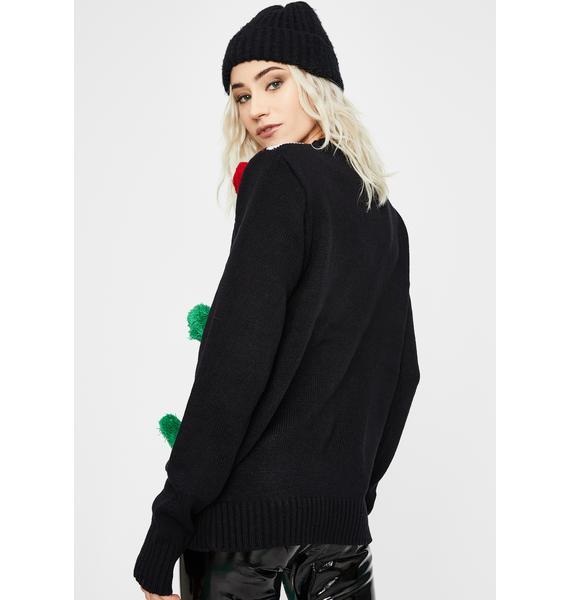 American Stitch It's Lit Knit Sweater