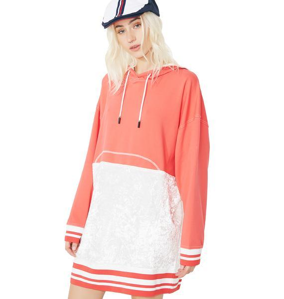 OKAYLA Velvet Hoodie Dress