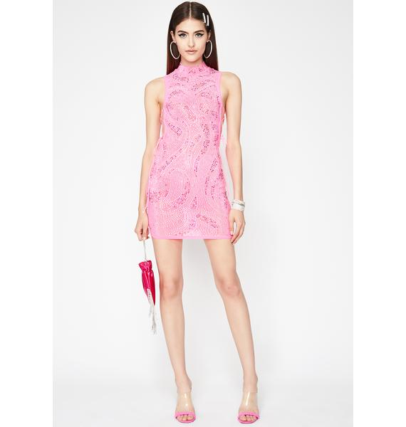 Classy Code Rhinestone Dress