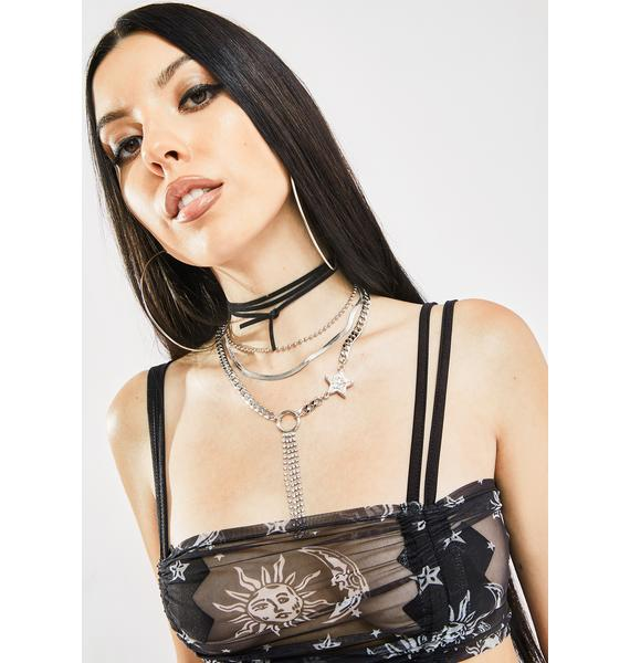 Celebrity Fantasy Layered Necklace
