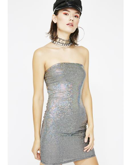 Trippin' Over You Hologram Dress