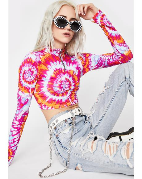 Kaleidic Lost Signal Crop Top