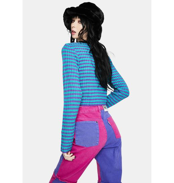 The Ragged Priest Gretchen Stripe Long Sleeve Top