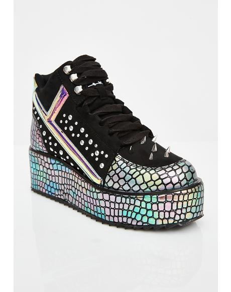 Qozmo Lo Dragon Hologram Sneakers